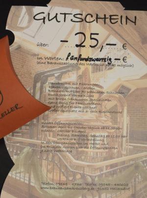 Gutschein über 25 Euro